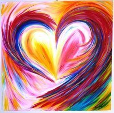 Swirling Heart Canvas