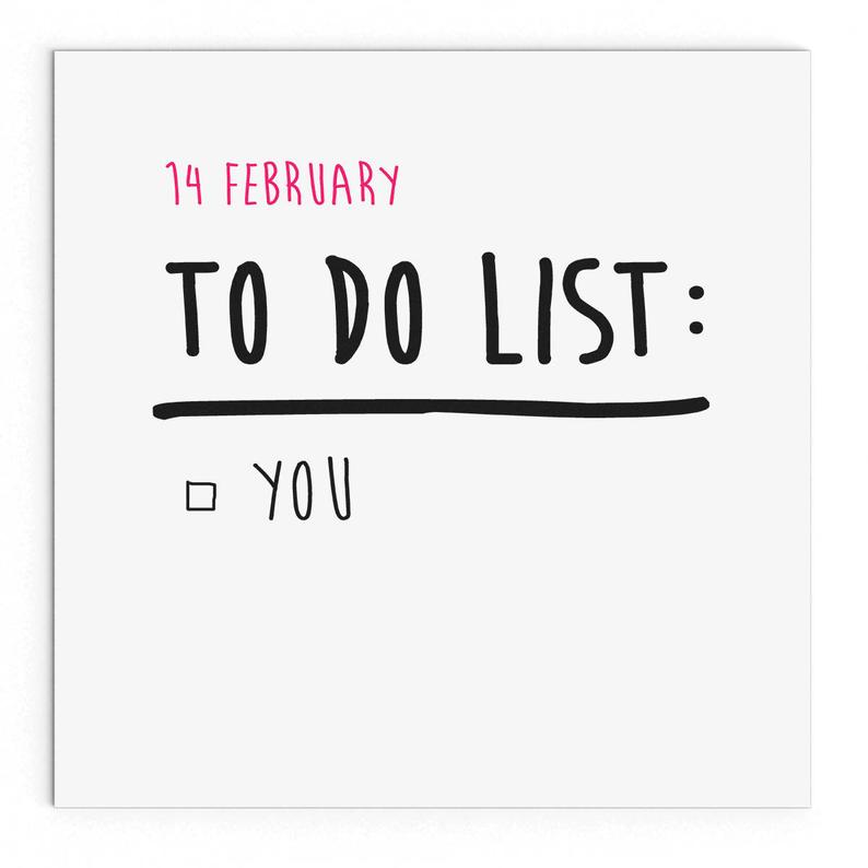 To-Do List Valentine Card