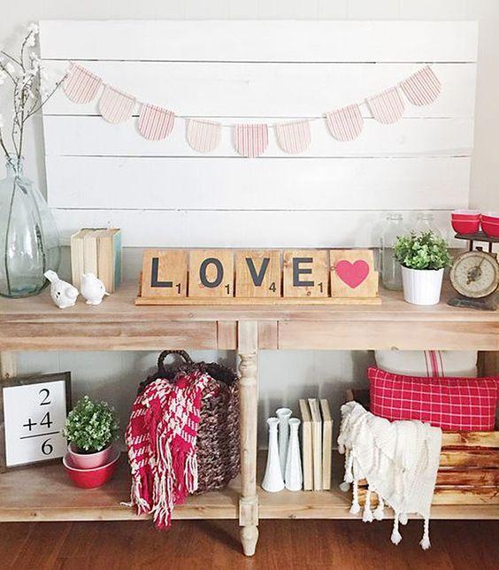 Valentine's Day Shelf Decorations