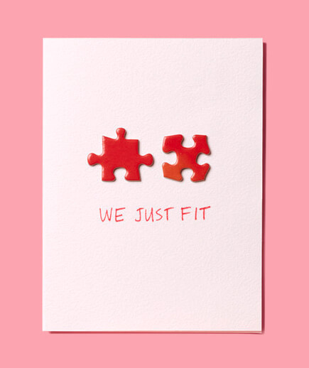 Valentine Card With Puzzle