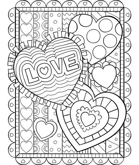 Valentine Coloring Pages for Adults 5