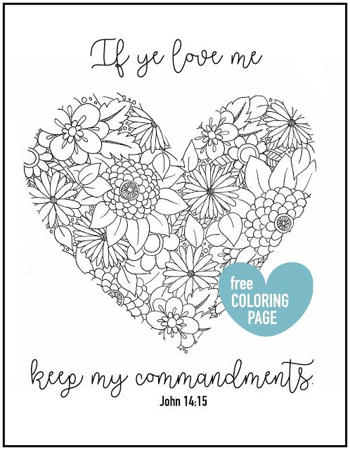 Valentine Coloring Pages for Spring and Easter 1