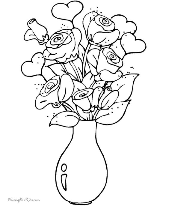 Valentine Coloring Pages for Spring and Easter 3