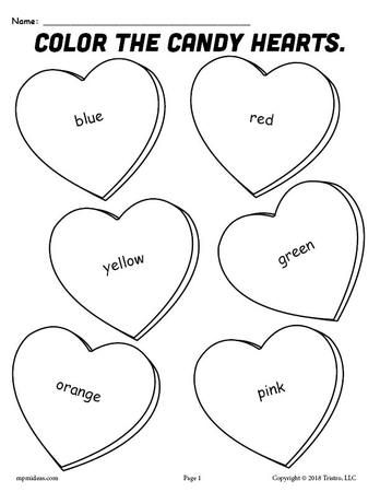 Valentine Coloring Pages for Toddlers 2