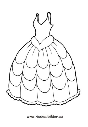 Valentine Coloring Pages of Clothing 3
