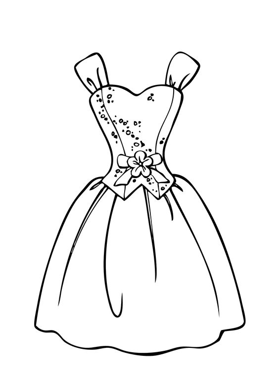 Valentine Coloring Pages of Clothing 4