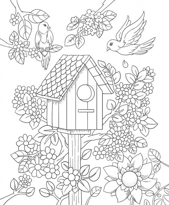 Valentine Coloring Pages with Animals 3