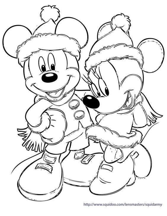Valentine Coloring Pages with Disney Themes 1