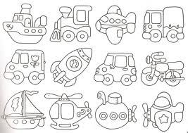 Valentine Coloring Pages with Transportations 1