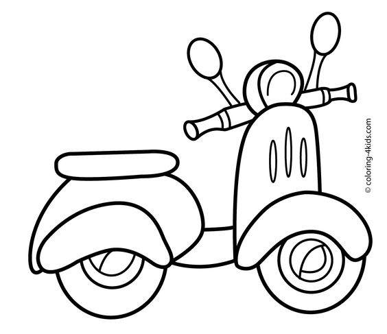 Valentine Coloring Pages with Transportations 2