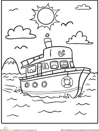 Valentine Coloring Pages with Transportations 5