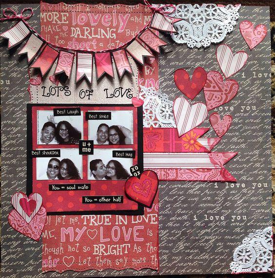 Valentine scrapbook