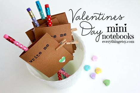 Valentine's Day Mini Notebooks