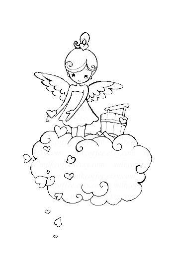 Vintage Valentine Coloring Pages 1