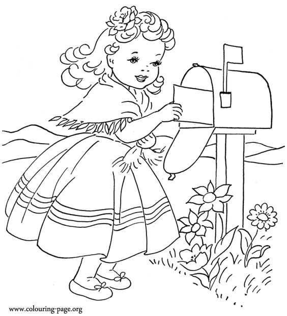 Vintage Valentine Coloring Pages 2