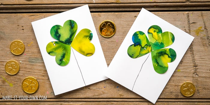 Watercolor Shamrock Clover Cards