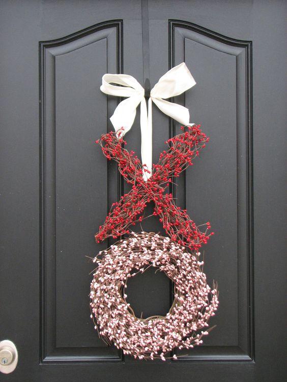 XO Valentines Wreath