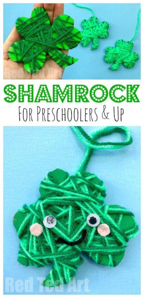 Yarn Wrapped Shamrock