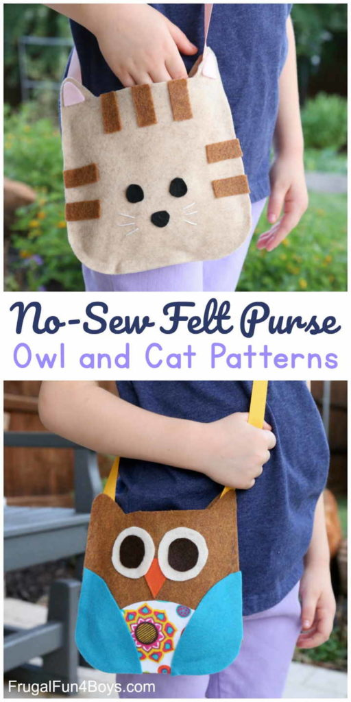 Adorable No-sew Felt Bag for Kids