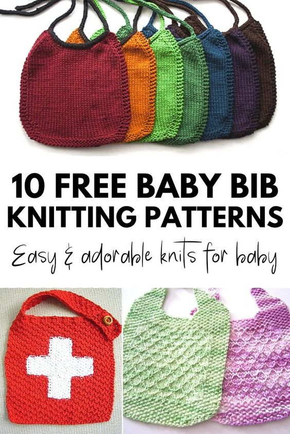 Baby Bib Free Knitting Pattern