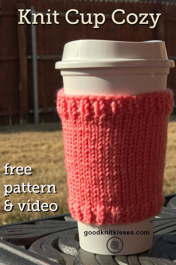 Basic Knit Coffee Cup Cozy