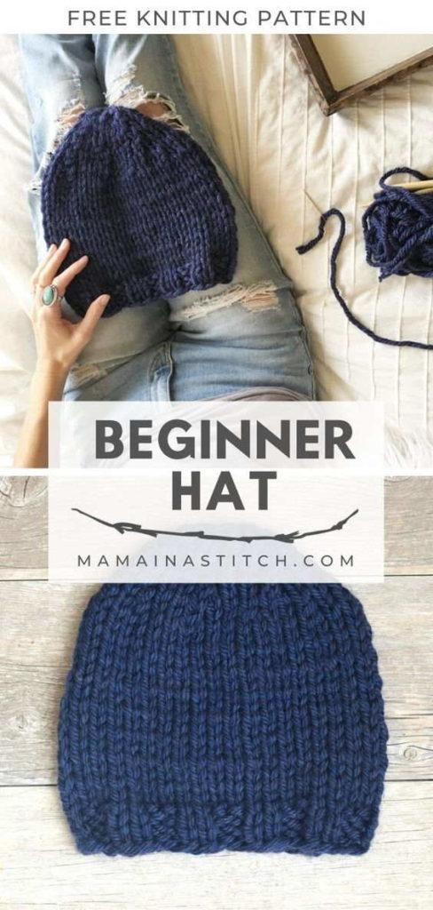 Beginner Chunky Hat Knit Pattern