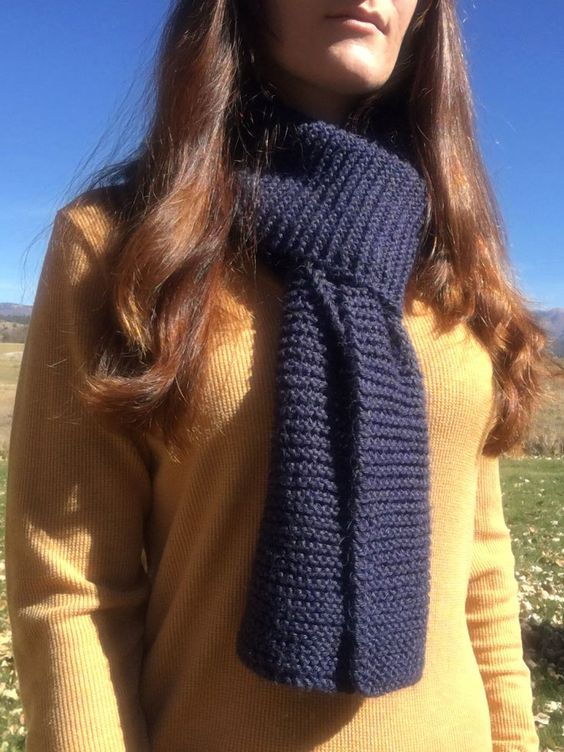 Beginner Knit Scarf Pattern
