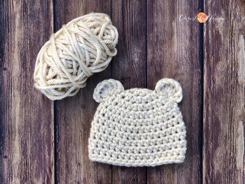 Chunky Bear Beanie Crochet Pattern