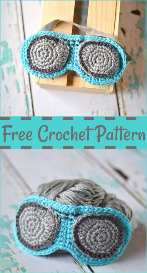 Crochet Eye Mask Free Pattern