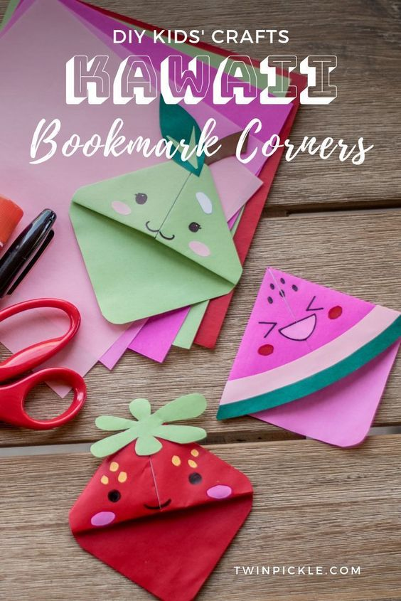 Cute Fruit Bookmark Corners