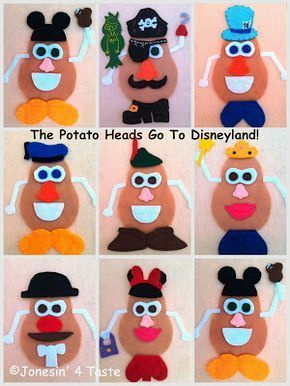 DIY Disney Felt Potato Heads