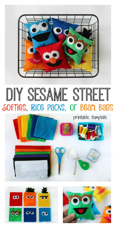 DIY Sesame Street Character Softies