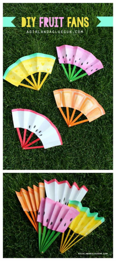 Do-It-Yourself Paper Fruit Fans