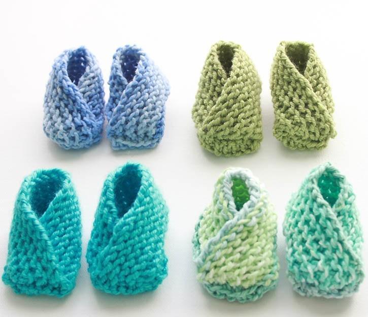 Easiest Baby Booties Knitting Pattern