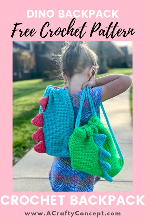 Easy Crochet Dinosaur Backpack - 40