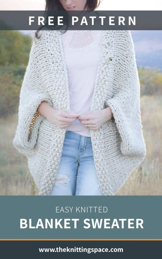 Easy Knitted Blanket Sweater