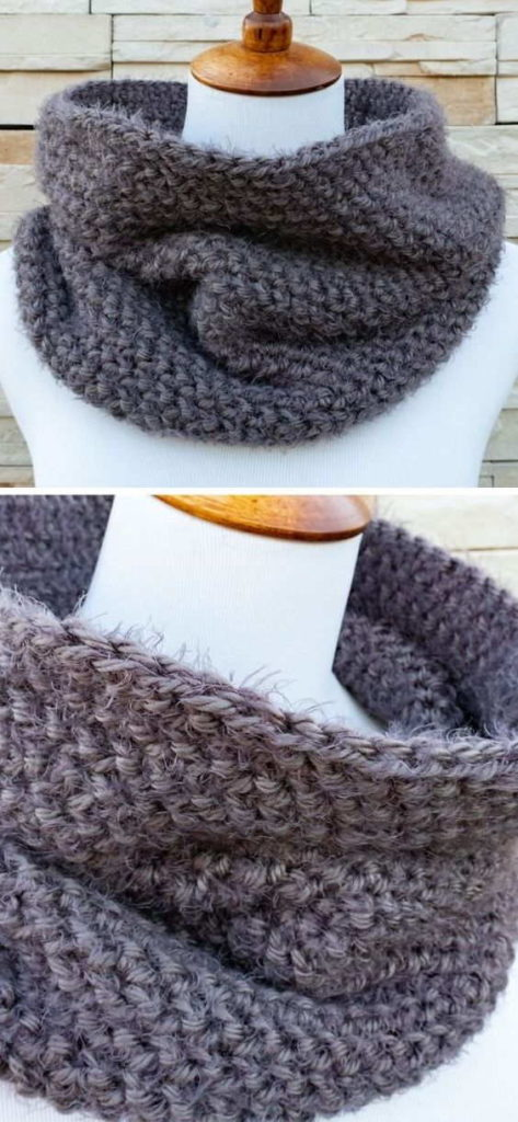 Fast and Easy Crochet Cowl Patterns for Beginners -15