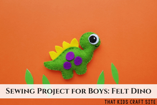 Felt Dinosaur Craft for Kids