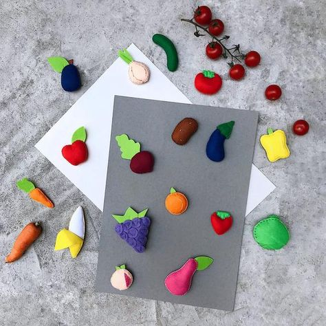 Felt Fruit Patterns for Kids