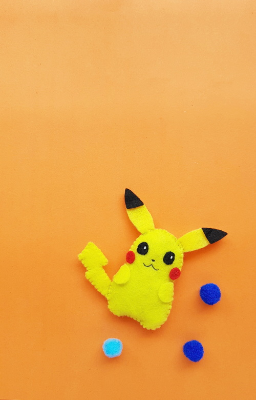 Felt Pikachu Craft