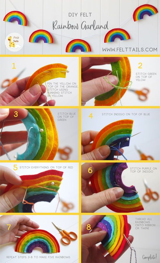 Felt Rainbow Garland