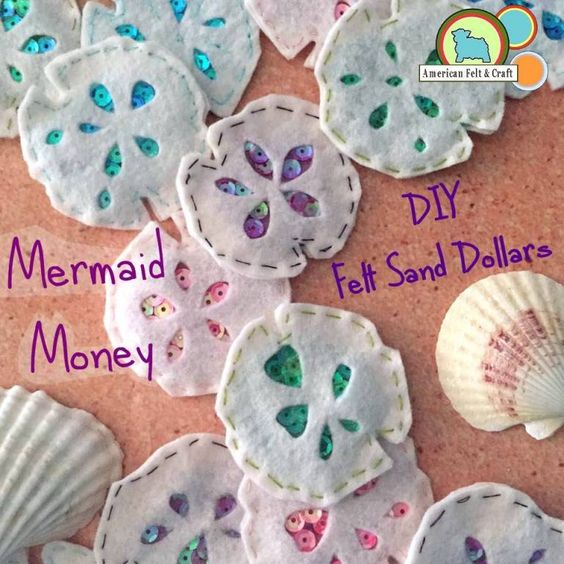 Felt Sand Dollars (Mermaid Money)