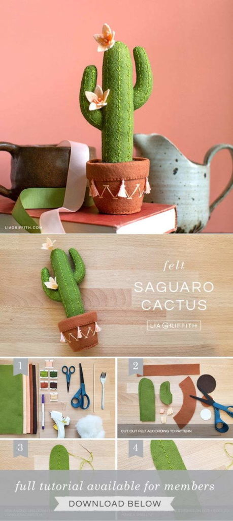 Felt Stuffed Saguaro Cactus