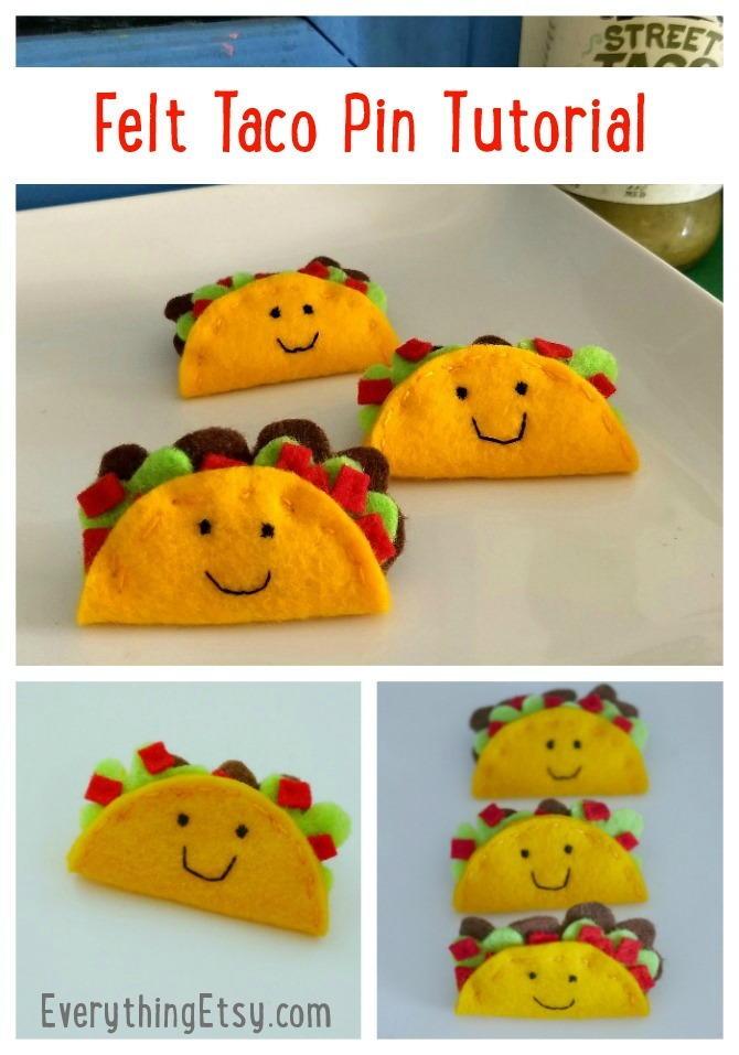 Felt Taco Pin