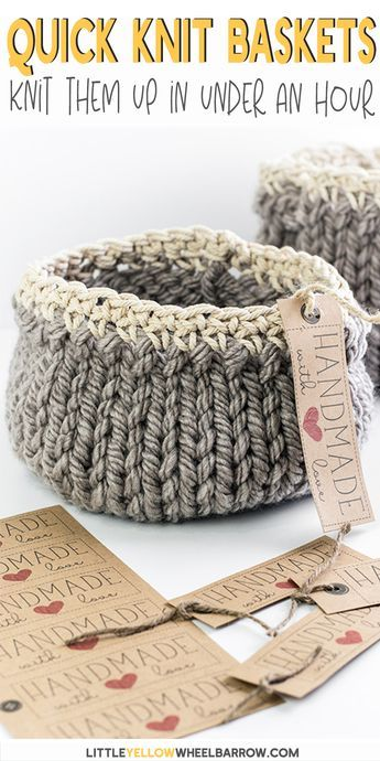 Free DIY Knit Basket