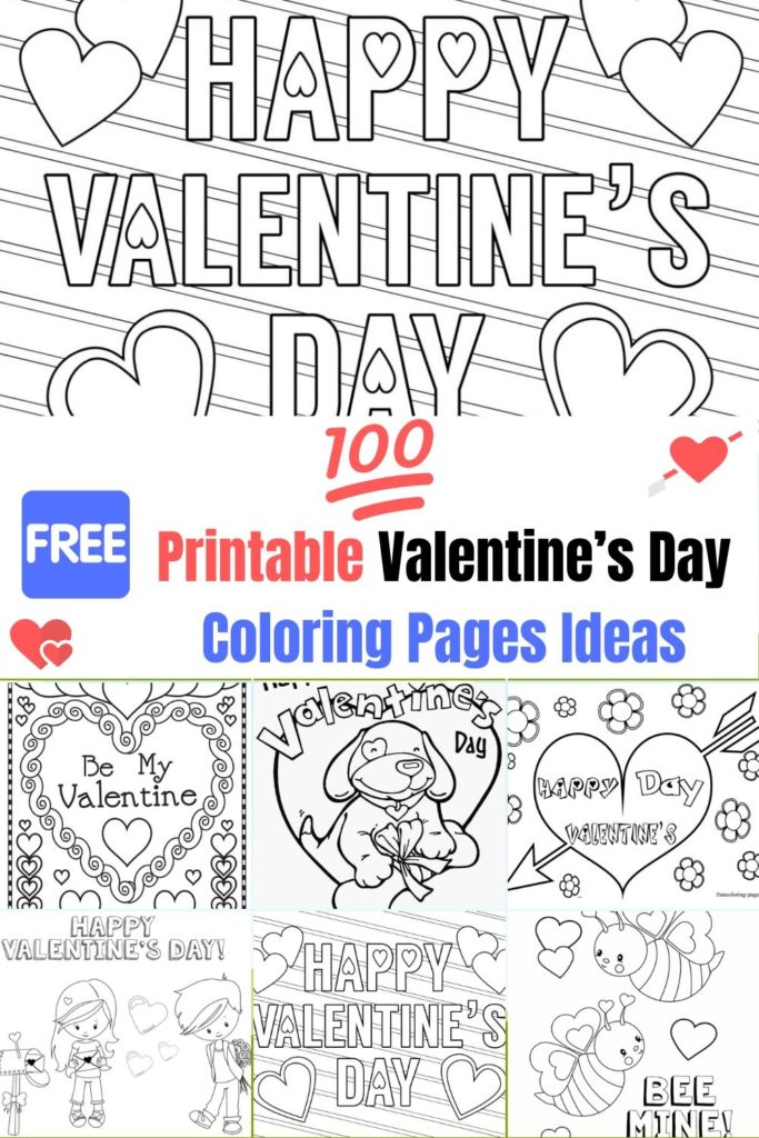 Free, Printable Valentine's Day Coloring Pages Ideas For Kids