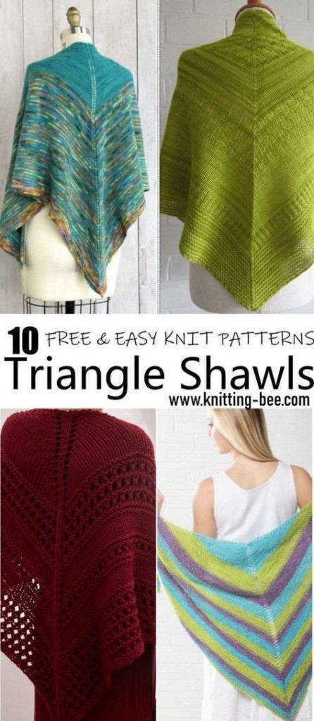 Free Triangle Shawls Knitting Patterns