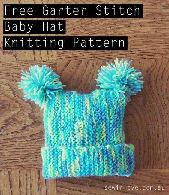 Garter Stitch Knitted Baby Hat