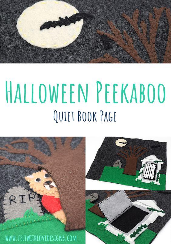 Halloween Peek-a-boo Quiet Book