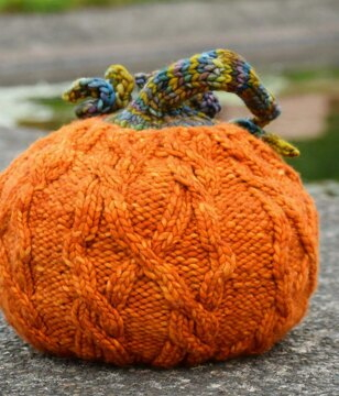 How to Knit a Pumpkin